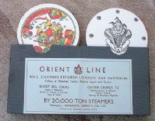 Vintage Advertising playing cards Orient Shipping Line